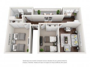 Ladera Townhomes Plan A